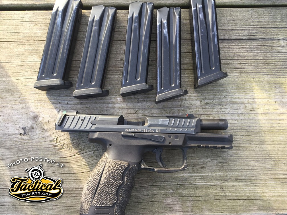 HK VP9 5 empty mags. You really only need 2.