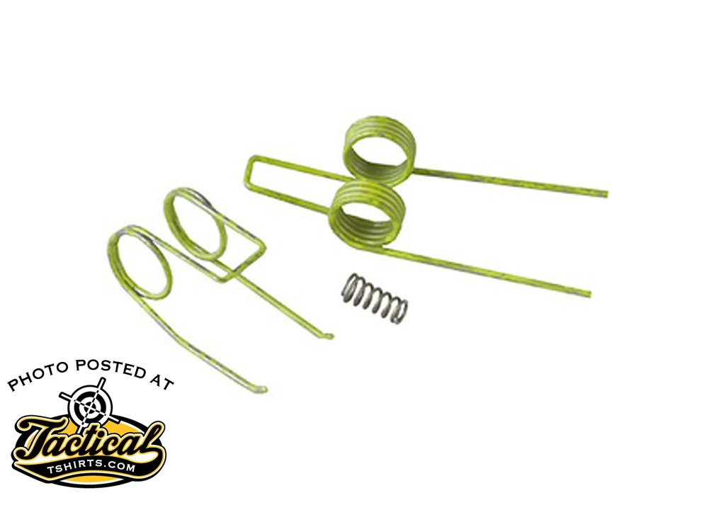 The JP reduced trigger spring kit replaces the springs in the stock AR15 trigger and costs about $12.