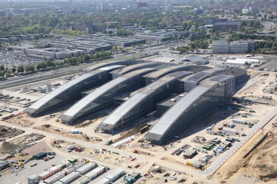 New, Fancy NATO HQ facilities under construction.