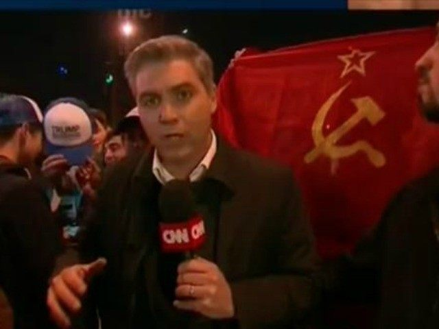 Sometimes the media accidentally reports the truth. Soviet Flag.