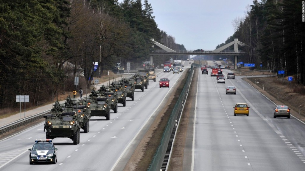 US Military Show of Force in Eastern Europe.