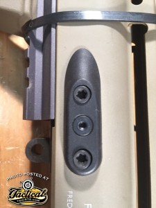 2 Barrel mounting screws on each side. SCAR also has 2 more up front. Torque all to 62 inch pounds