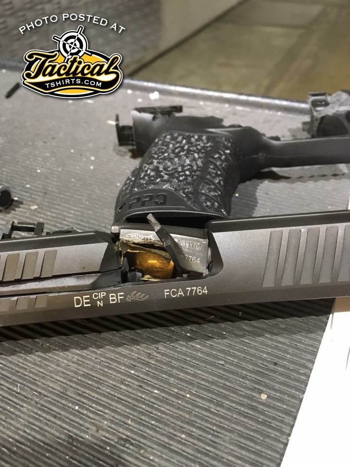 PPQ Failure. Notice the frame is blown apart as well.