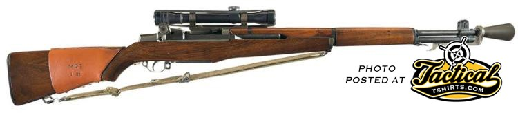 M1 Garand Sniper Rifle. Right Side.