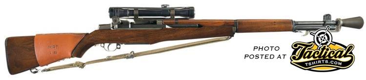 M1 Garand Sniper Rifle. Right Side.