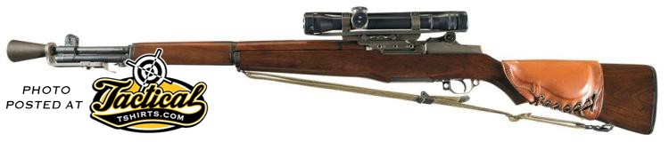 M1 Garand Sniper Rifle Left Side.