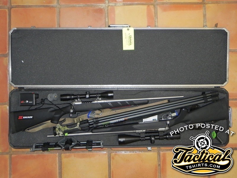 Don't neglect your gun case as a place to carry items. Just make sure your guns are unloaded, comply with regulations and don't exceed baggage weight limits.