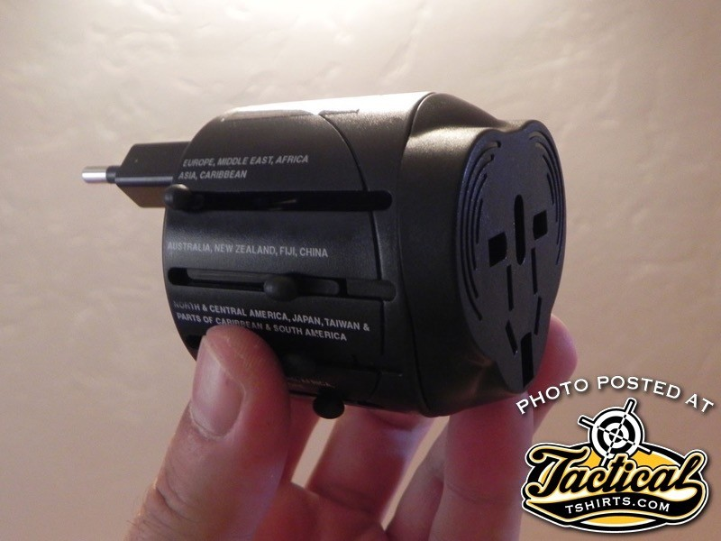 Different countries use different plugs. A universal style adapter is useful in almost any country.
