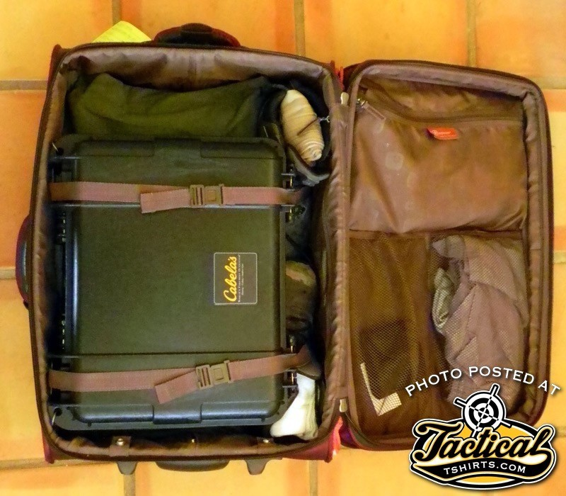 Boots, ammo, optics, clothes and toiletries all fit in one bag.