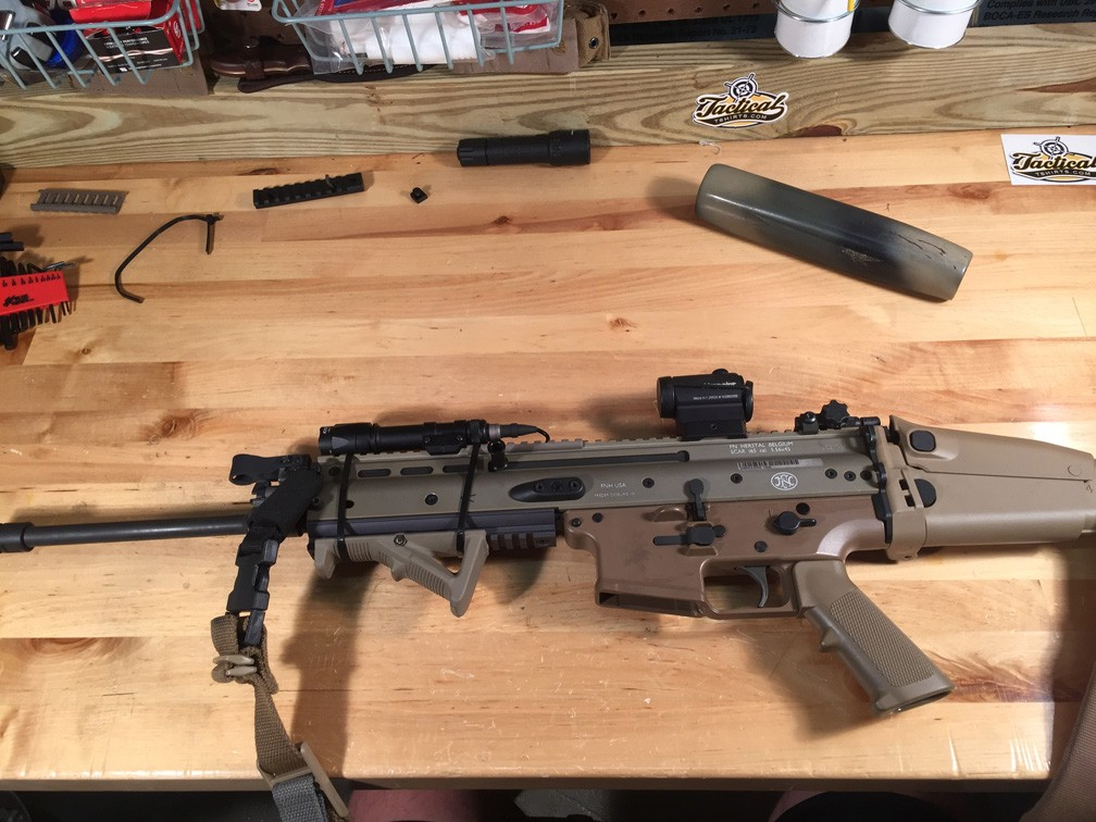 SCAR 16 finished product. Rail removed.