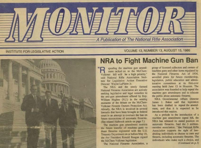 Story on the 1986 Hughes Amendment.