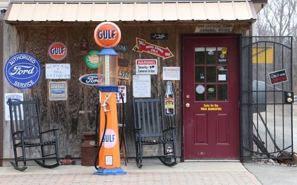 """The actual entrance to the retail store. Have you ever seen a more inviting gun shop entrance? The quote from the website, """"Located in the Back Room of an Otherwise Respectable Business"""""""