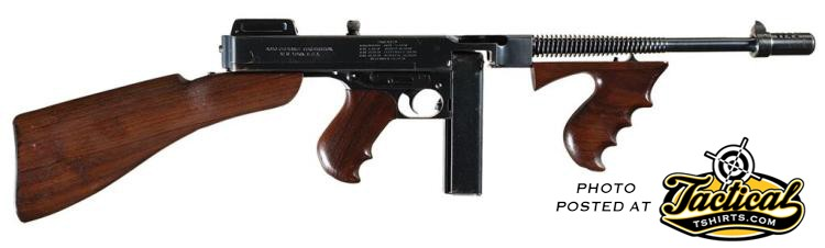 45 Caliber Thompson Sub. Gun.
