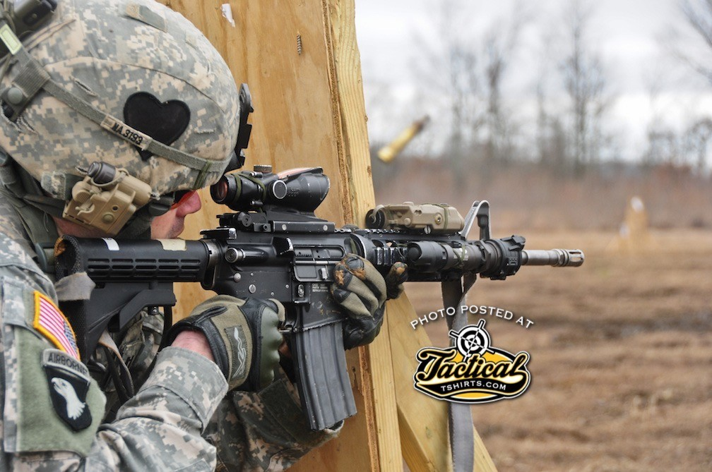 FORT CAMPBELL, KY – Capt. James Nardelli, part of a deploying Security Force Assistance Team with the 2nd Battalion, 502nd Infantry Regiment, 2nd Brigade Combat Team, 101st Airborne Division (Air Assault), fires at a target during a stress shoot training exercise at Fort Campbell's Range 40a, Feb. 16. The stress shoot training exercise conditions Soldiers to effectively hit their targets in highly intense situations.(U.S. Army photo by Sgt. Joe Padula, 2nd BCT PAO, 101st Abn. Div.)