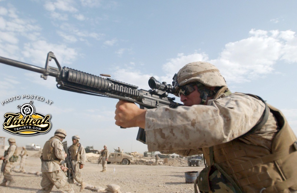 Lance Cpl. Osvaldo J. Lopez knows the value of keeping his combat skills honed when not on patrol. The 22 year-old from Bayonne, N.J. is a rifleman with 2nd Battalion, 2nd Marine Regiment. The unit makes sure its Marines practice shooting tactics as often as possible to keep the troops at the top of their game. (USMC Photo by Cpl. Shawn C. Rhodes)