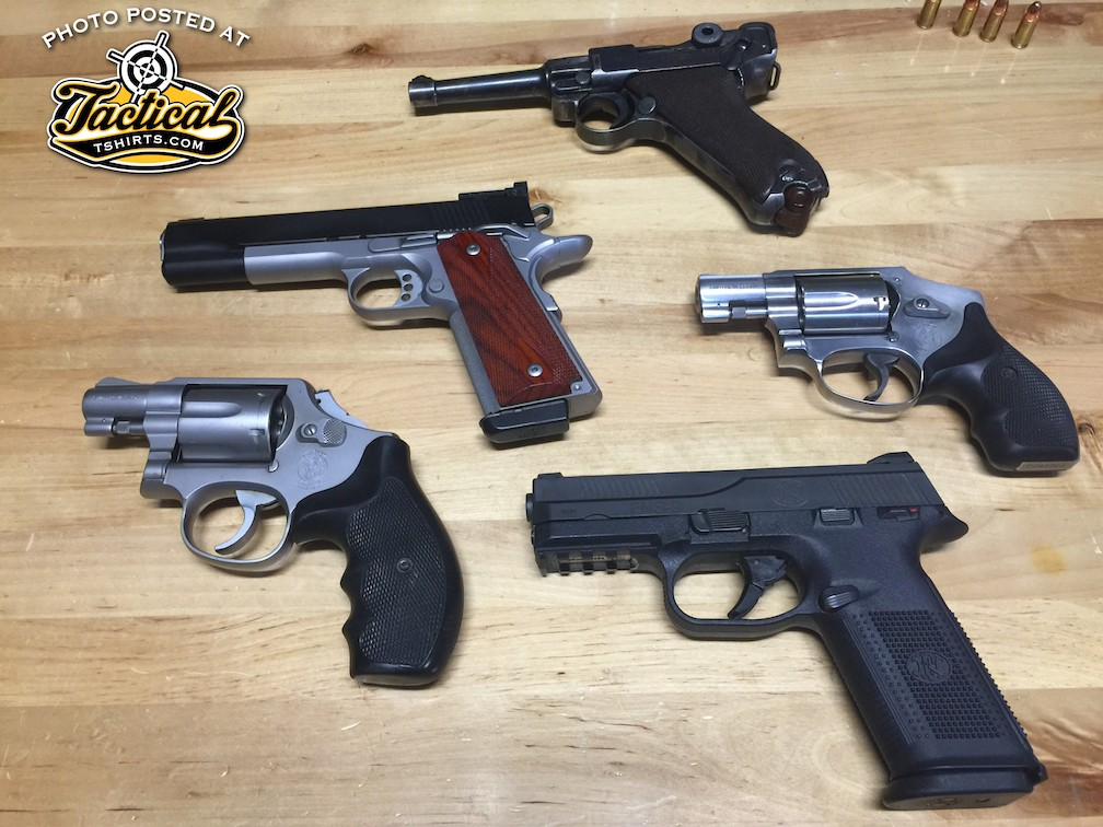 Common 9mm / 38 caliber handguns