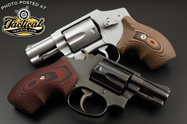 A Glock 19 is functionally the same size as these 5 shot revolvers.