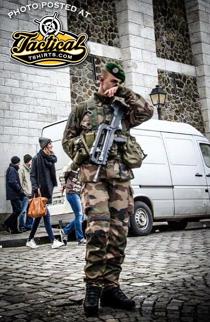 FAMAS Rifle on the streets of Europe.