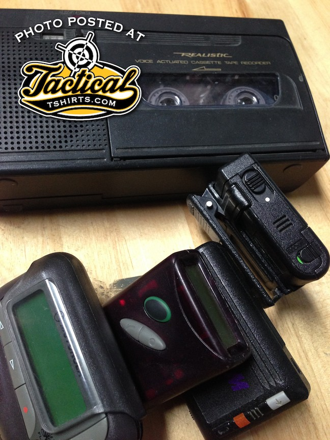 Old Pagers and bugging device.