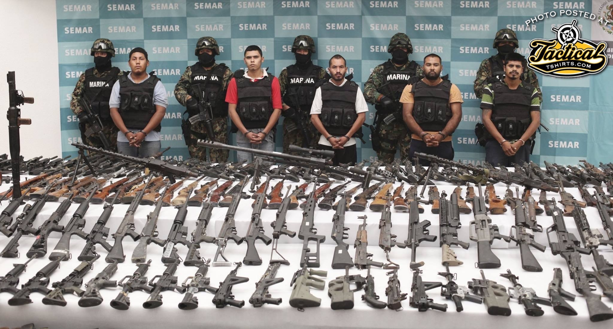 Mexican Marines Bust Drugs and Guns