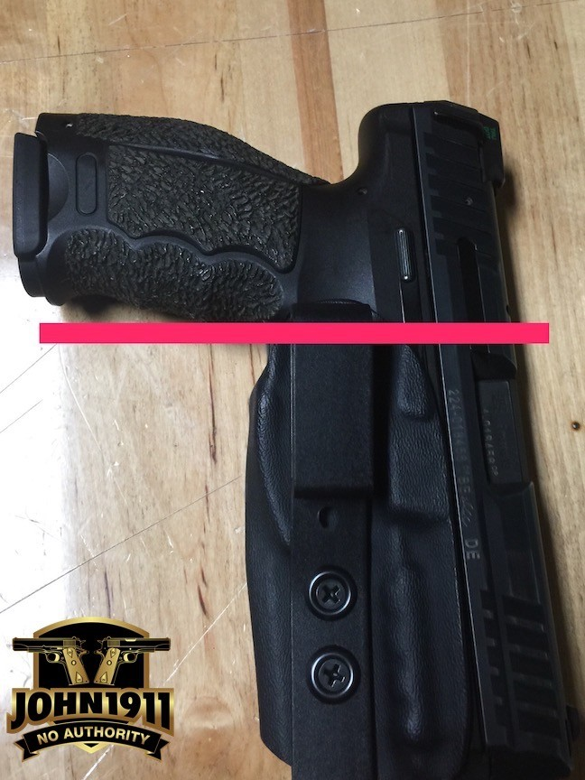 This holster sits way too low on the belt.