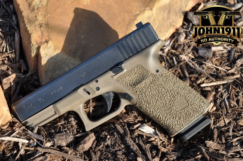 Example of a cut down Glock 19 Grip Reduction. This makes the grips even smaller!
