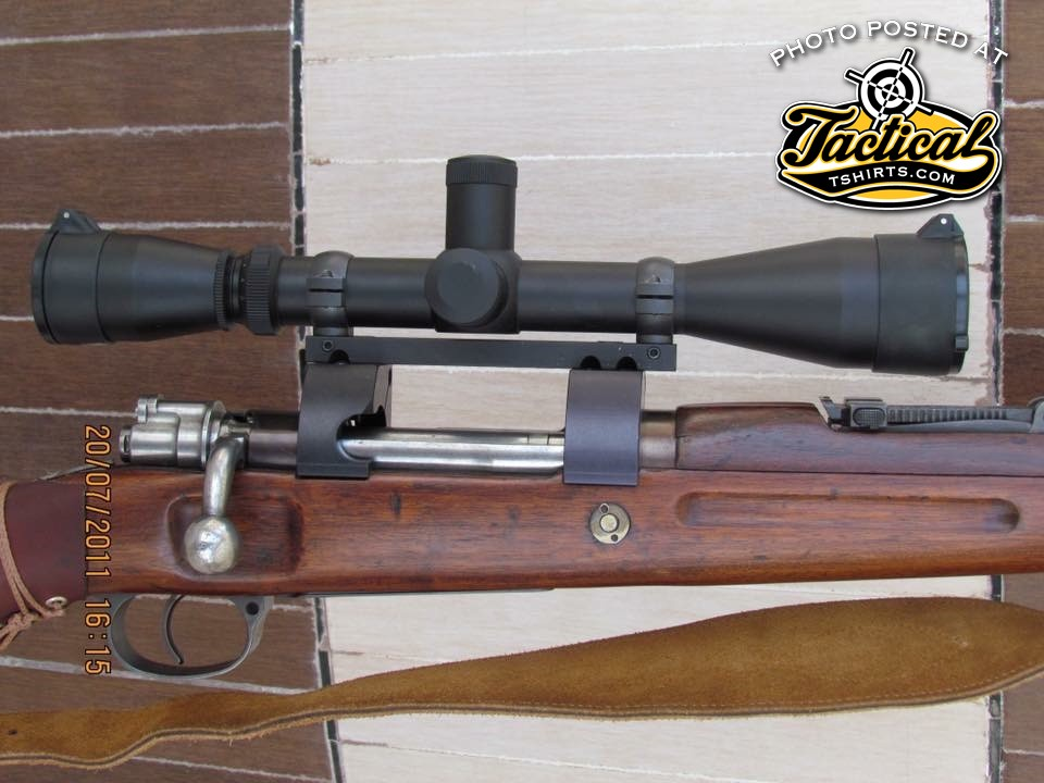 Upclose of Persian Mauser. Notice the cut for easier loading?
