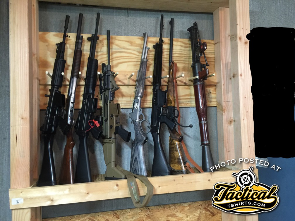 Racks need to be strong enough to hold items typically heavier than a rifle.