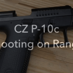 CZ P-10c Pistol On Range