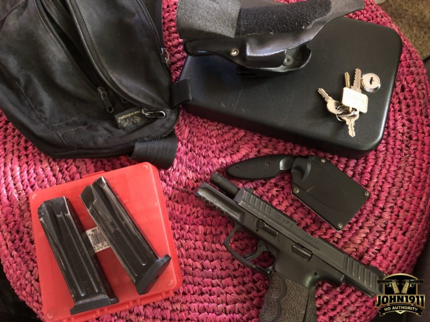 My gun travel load out.