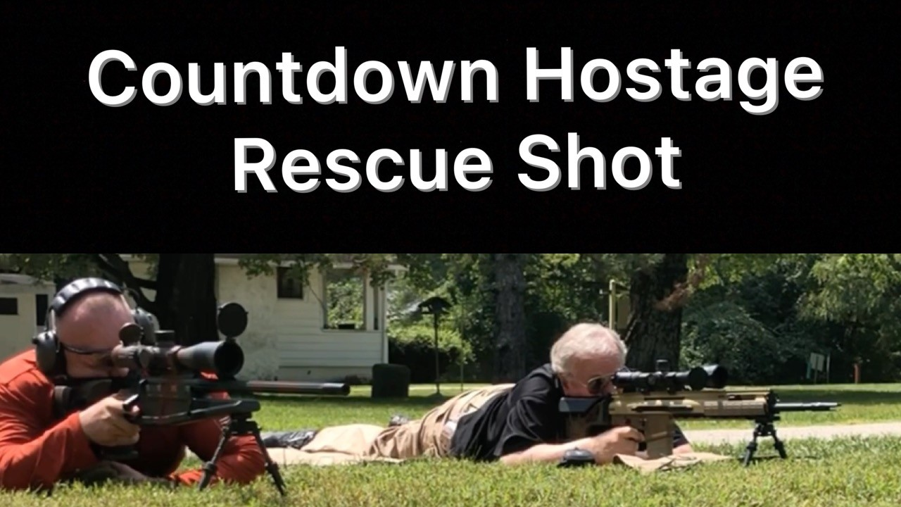 Countdown Hostage Rescue Shot. SWAT Training.