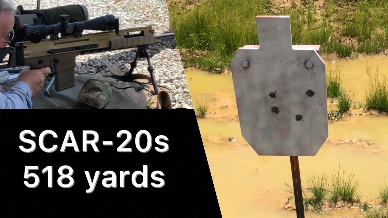 SCAR-20s Load Testing TMK 518 yards.