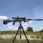 Battle Steel Gun Jaw. Manfrotto Tripod. Blaser R8 in GRS Chassis