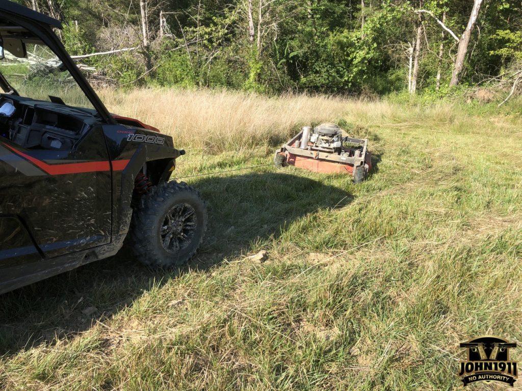 Two Stumps & a Rock. Broken Bush Hog