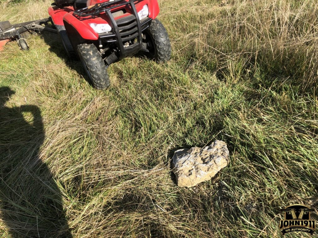 Two Stumps & a Rock. Broken Bush Hog