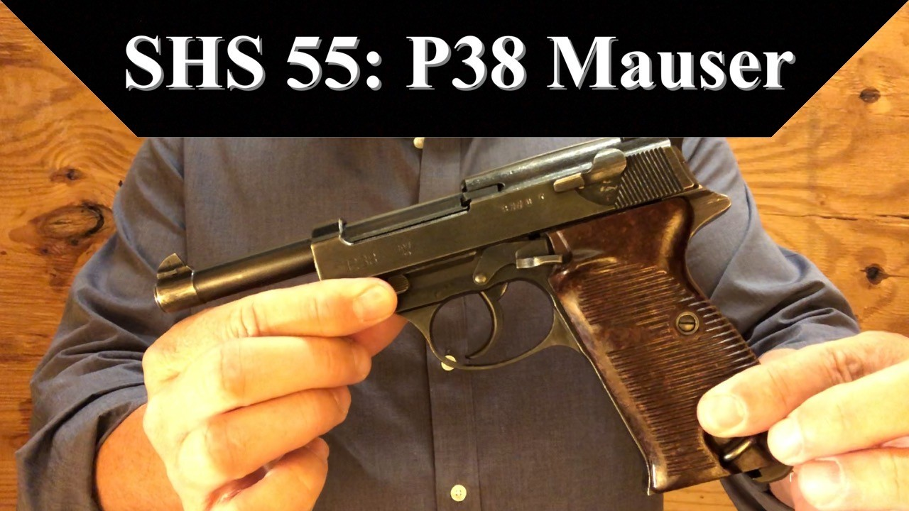 SHS 55: P38 Mauser Pistol. WWII Production.