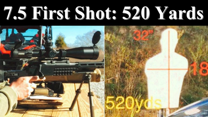 7.5x55 GP11 Ammo first shots out to 520 yards.