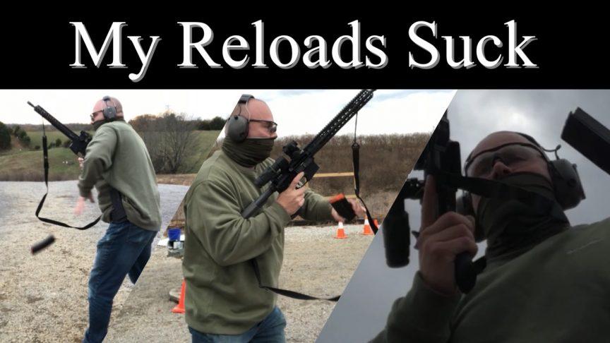 My Reloads Suck. Practicing AR magazine reloads.