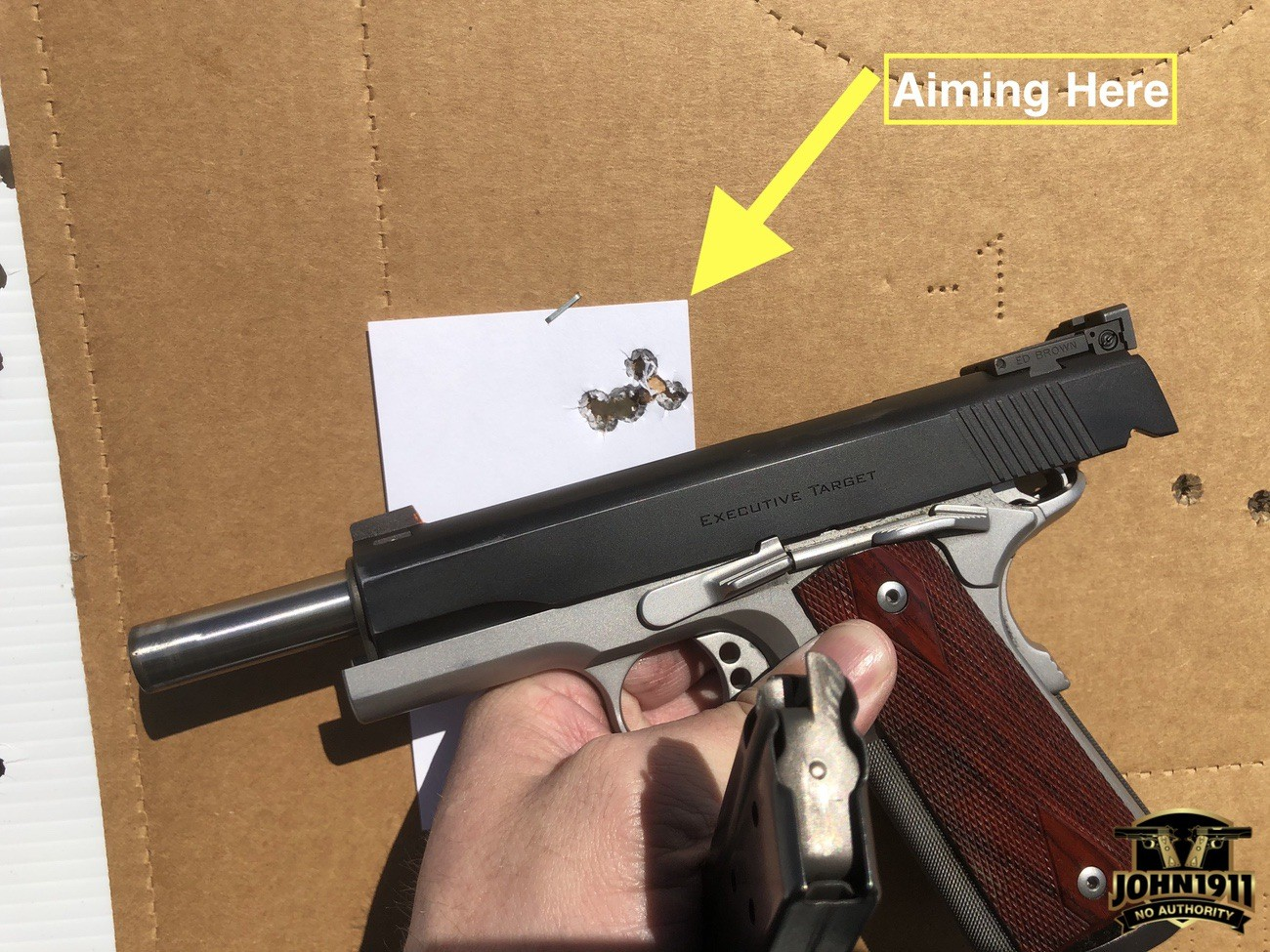 Executive Target 9mm Ed Brown 1911.