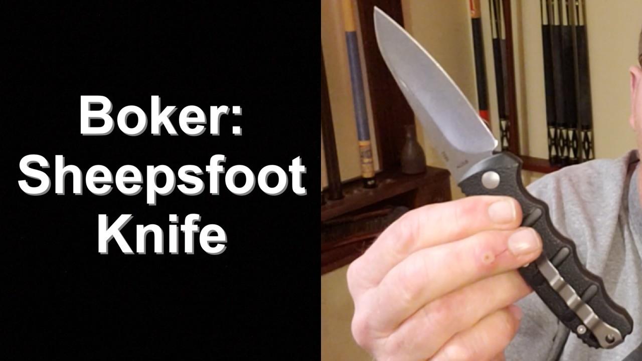 Boker Sheepsfoot Blade