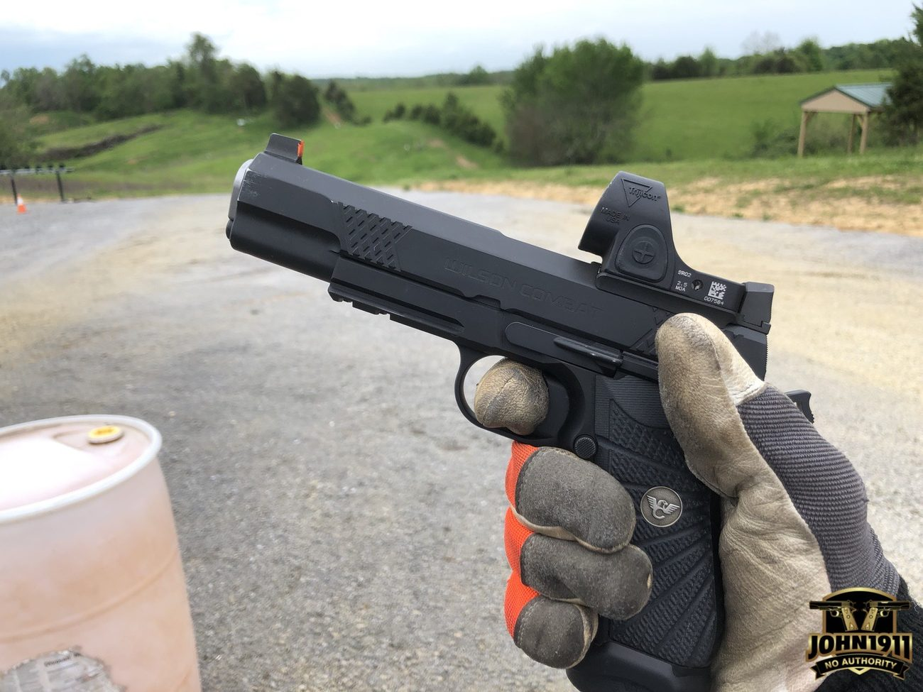 Wilson EDC X9L with gloves.