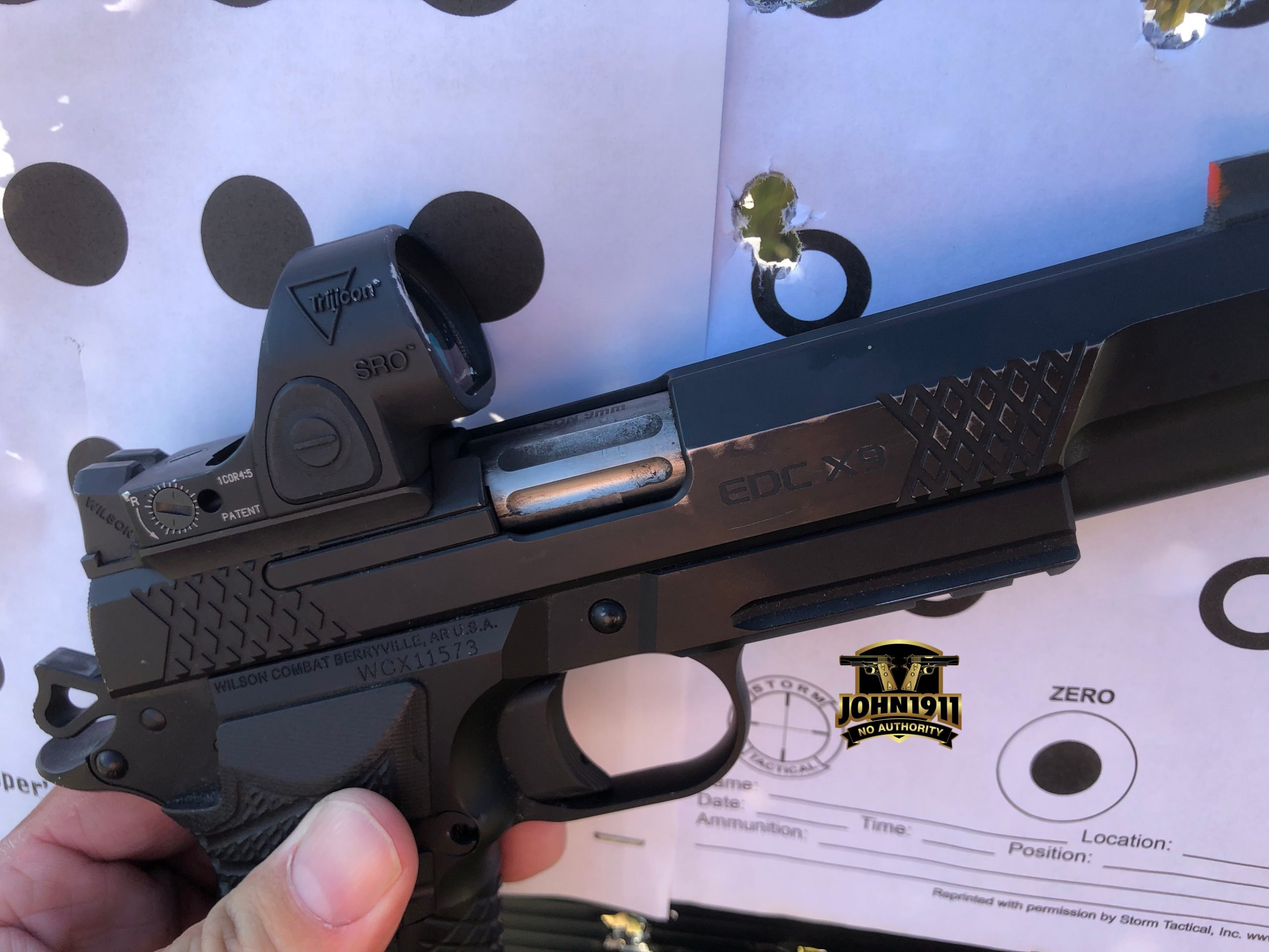 Shooting dot torture with Wilson Combat EDC X9L