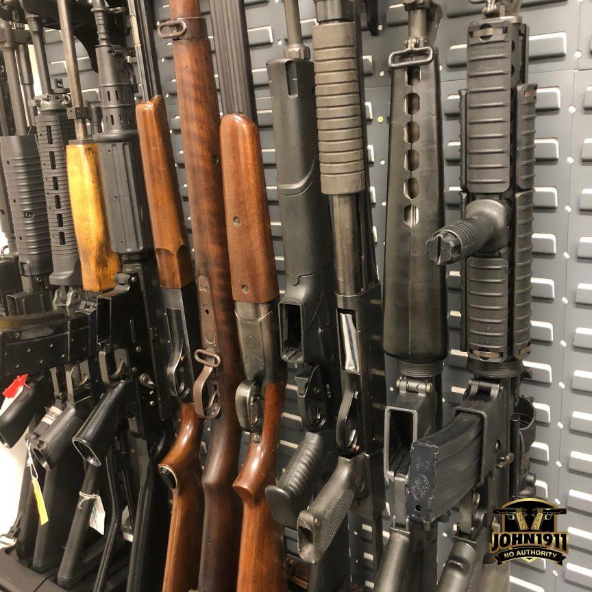 Weapon racking / storage system.