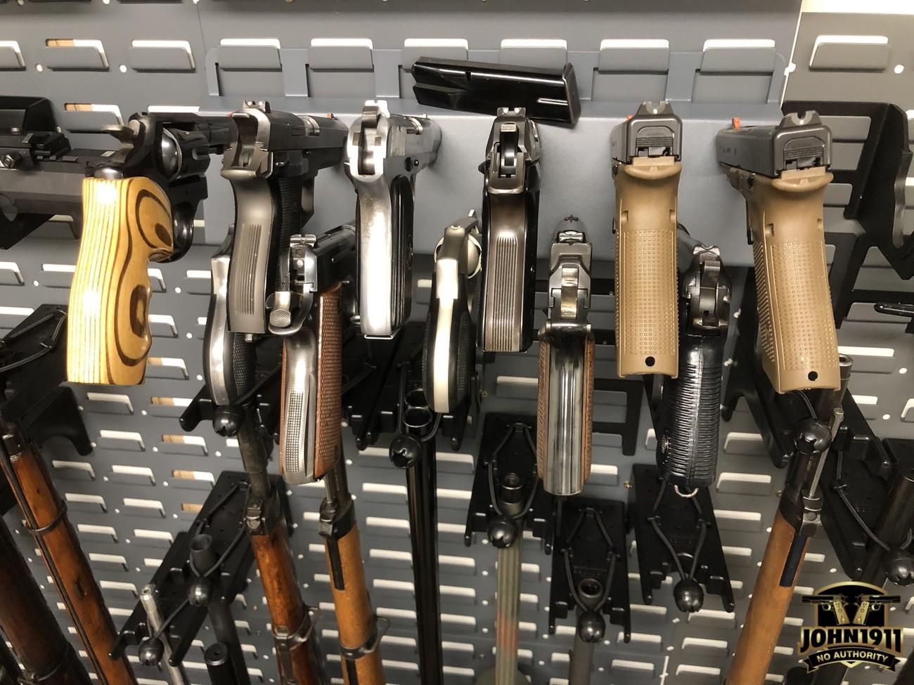 Secure It gun storage. High density pistol storage.