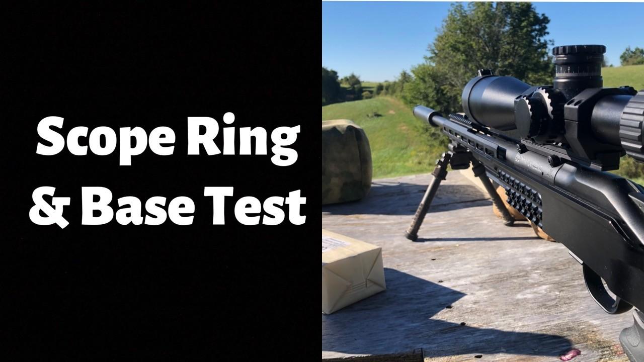 Blaser R8 Scope Ring and Base Test.