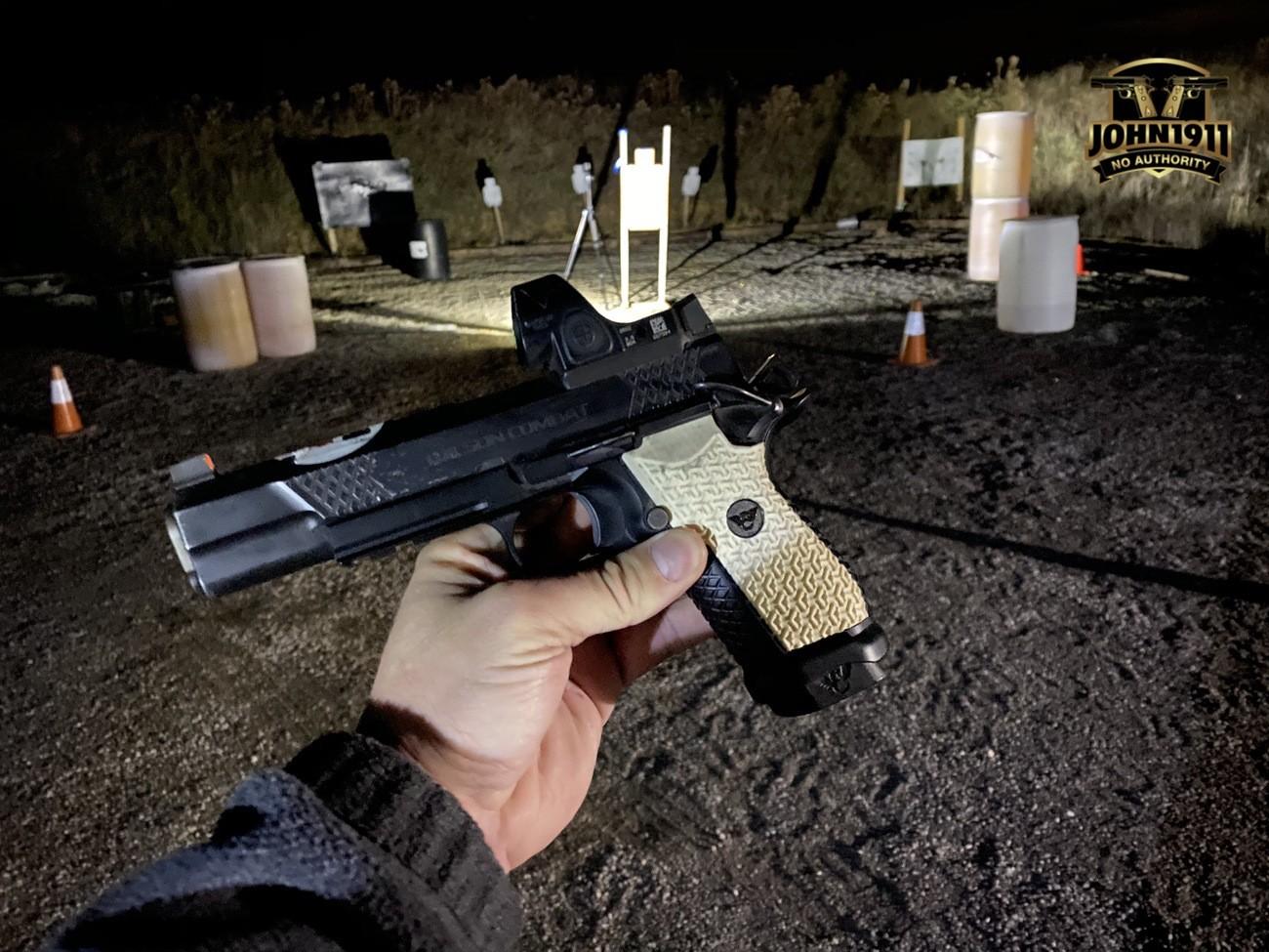 EDC X9L Shooting at night.
