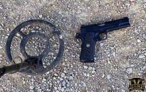Metal detector gun