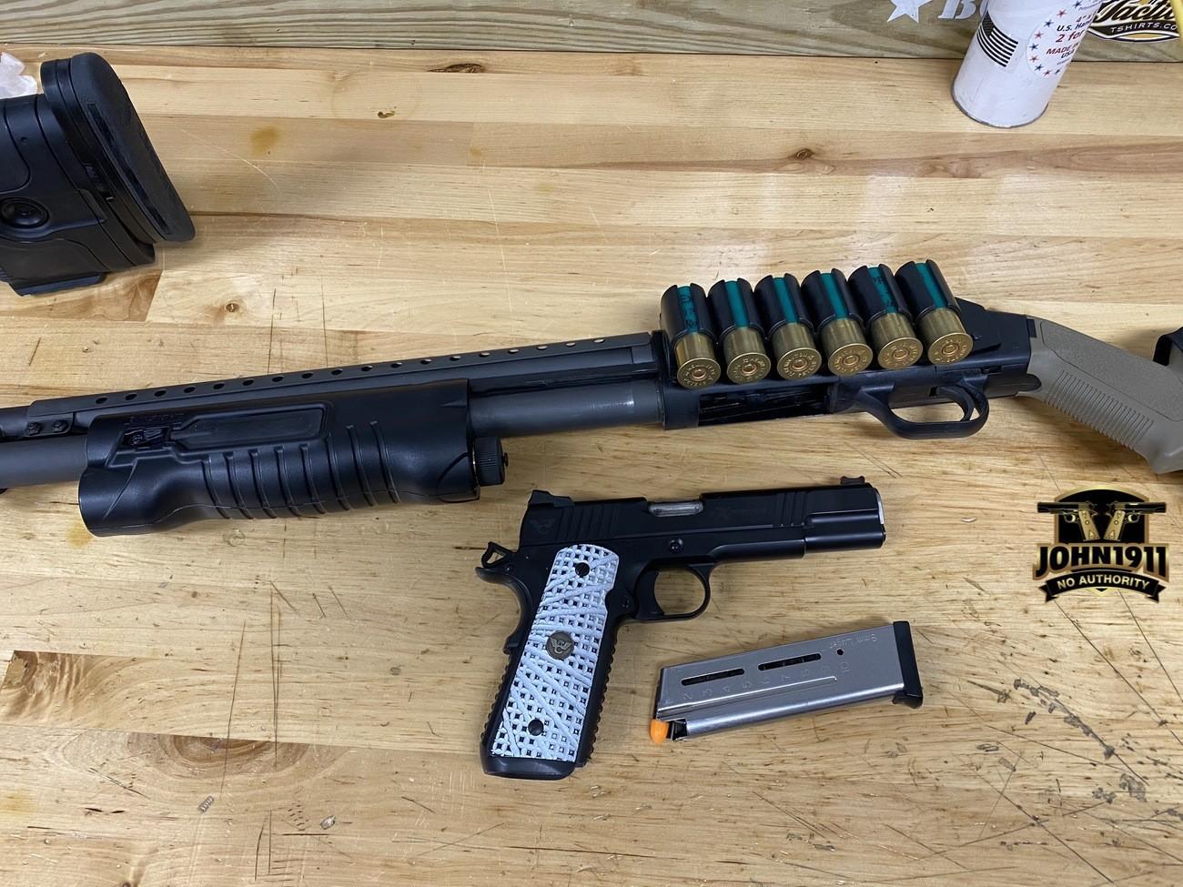 Mossberg 590 Shotgun.