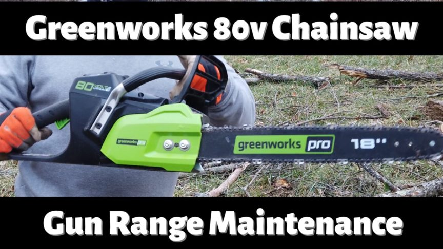 "Greenworks Pro 18"" Battery Chainsaw."