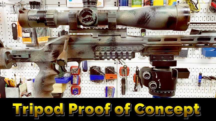 Rifle tripod shakedown. Blaser R8.